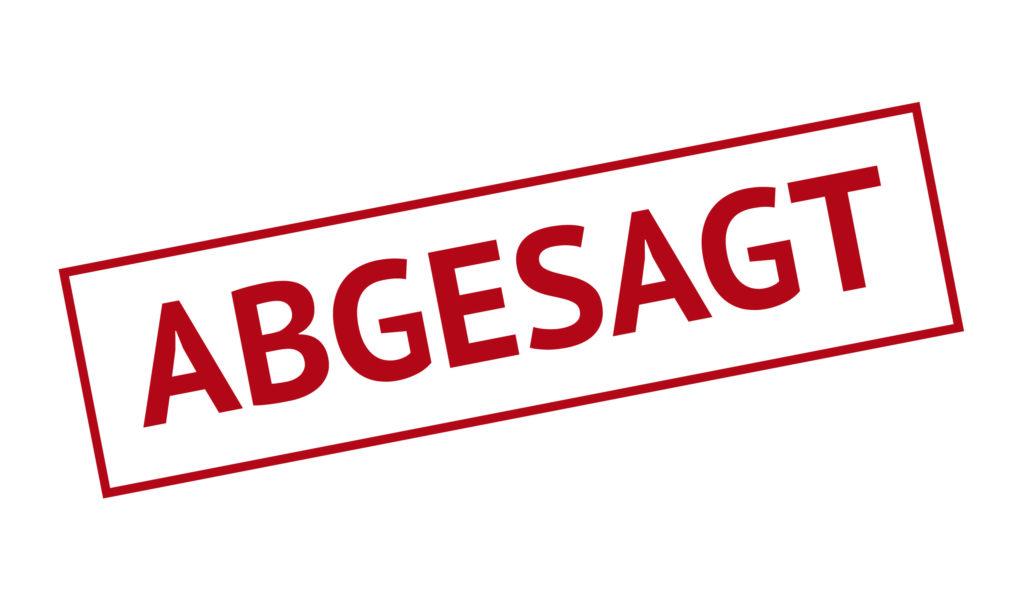 Standkonzert vom 30. August abgesagt